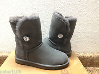 Ugg Bailey Button Bling Grey Gray Us 5 / Eu 36 / Uk 3.5 -