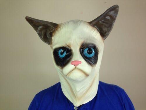 House Cat Mask Latex Full Head Pussycat Cats Animal Masks Fancy Dress Costume