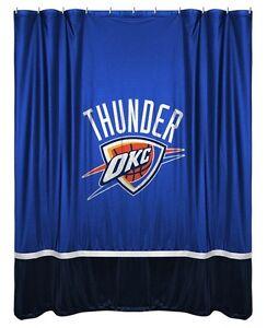 Image Is Loading Oklahoma City OKC Thunder Jersey Mesh Fabric Shower