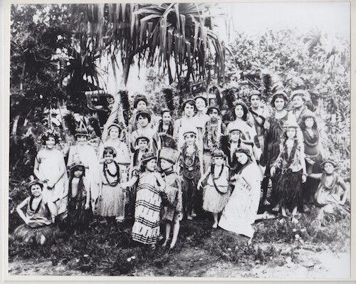 "1920/'s KEIKI /'BEAMER HALAU/' BIG ISLAND 8x10/"" HAND PRINTED SILVER HALIDE PHOTO"