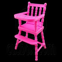 Pink Nursery Baby High Chair 1:6 Kelly Barbie Doll's House Dollhouse Miniature