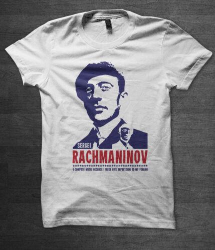 Sergei Rachmaninov t shirt classical music mozart beethoven