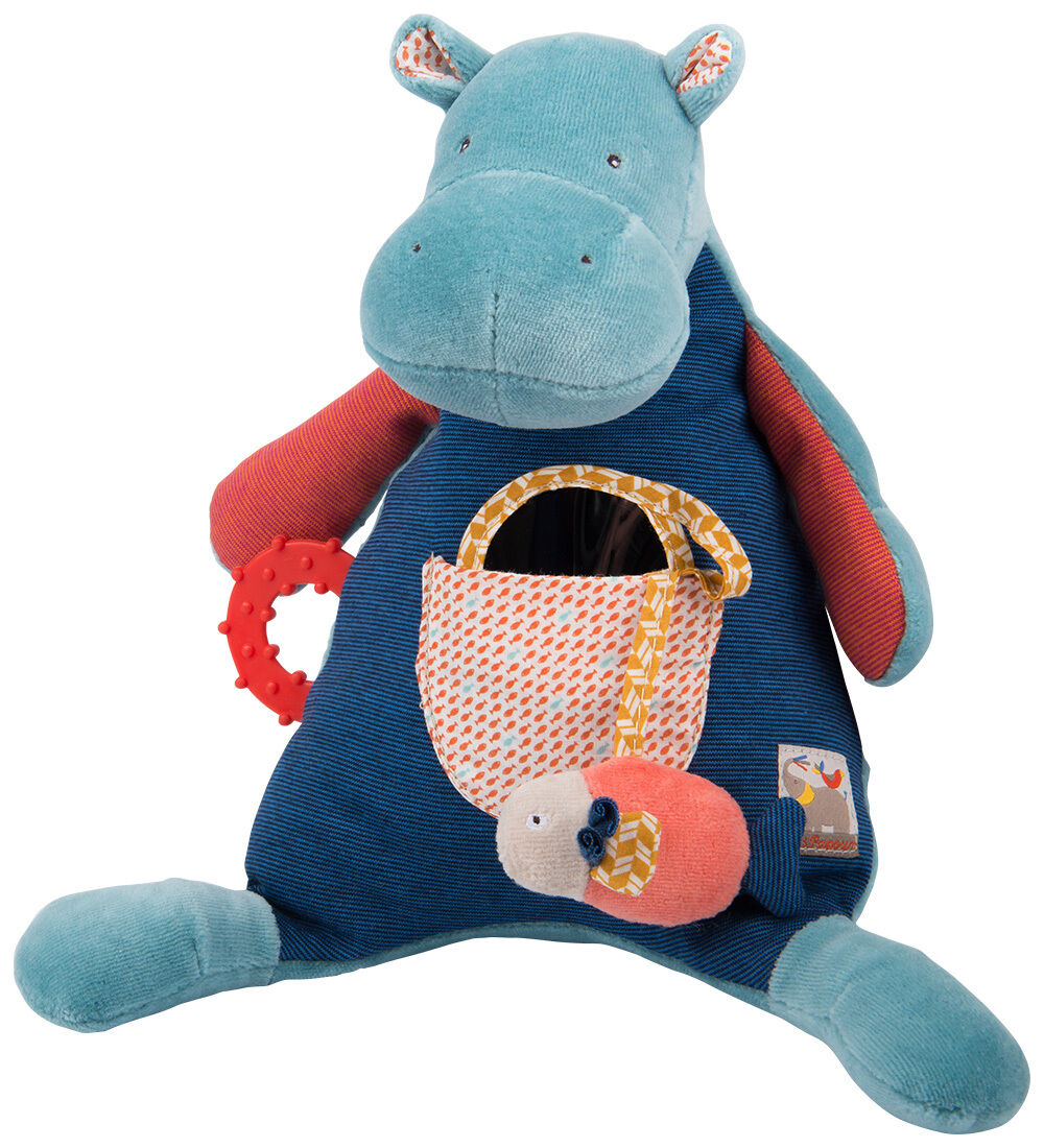Moulin redy Les Papoum Soft Toy Activity Hippopotamus from Wyestyles