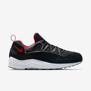 New Nike Men s Air Huarache Light Shoes (306127-006) Black Wolf Grey ... 00055ff7d0