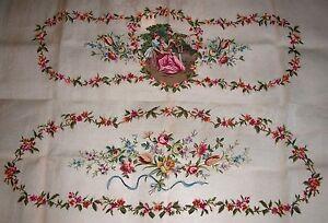 EP-184-Vintage-Floral-Sofa-Seat-Back-Set-Preworked-Design-Needlepoint-Canvas