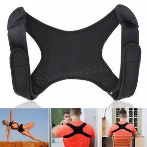 Men-Women-Therapy-Posture-Corrector-Back-Shoulder-Support-Brace-Straightener-US