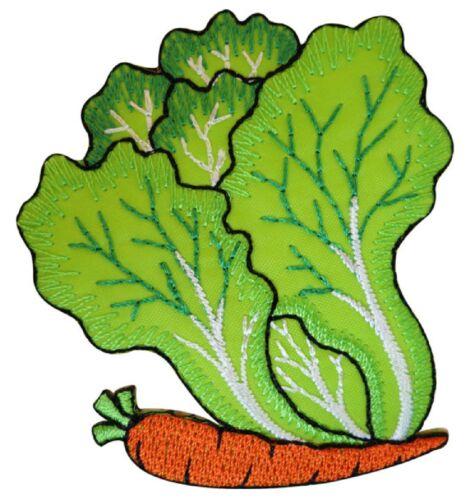 Patche écusson légumes salade carotte thermocollant patch NagaPatches brodé