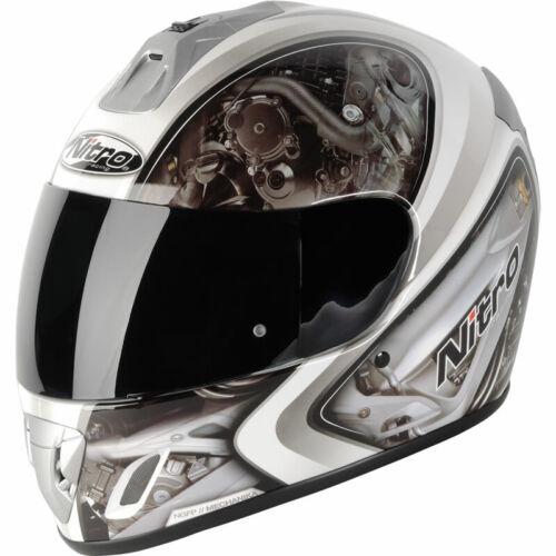 NITRO NGFP MECHANIKA FULL FACE MOTORCYCLE MOTORBIKE CRASH HELMET SIZE SMALL XXL