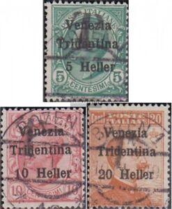 Italien-Besetzung-Trentino-27-29-kompl-Ausg-gestempelt-1919-Freimarken