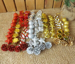 Mini-Decoracion-Arbol-Navidad-16-24-pk-Bola-ESTRELLA-BASToN-DE-CARAMELO-Tambor