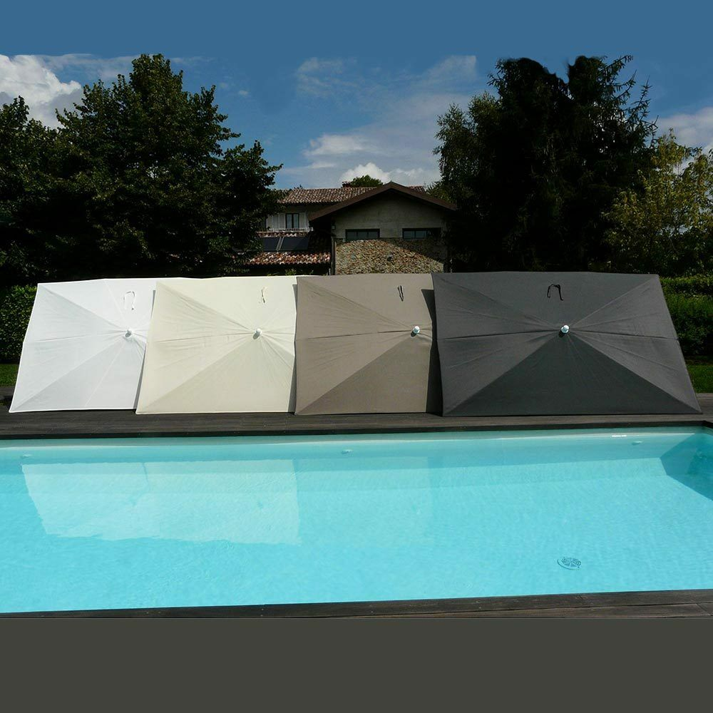 Maffei ombrellone palo centrale Kronos Art.138R taupe poliestere 300x200cm 300x200cm 300x200cm 256669