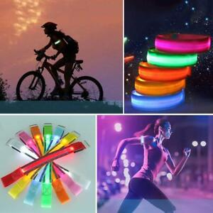 LED-Cyclist-Wrist-Band-Stylish-Safety-Comfort-Glowing-Night-Accessories-Party-SS