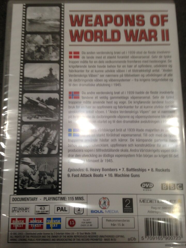 WEAPONS OF WORLD WAR 2, DVD, drama