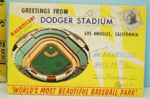 1964 Greetings From Dodger Stadium Fold-Out Postcard Book Complete Mitock & Sons