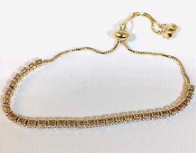 Gold Tennis Slider Bracelets made with Swarovski Elements - New | eBay
