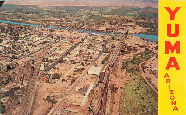 Postcard Aerial View Of Yuma, Arizona