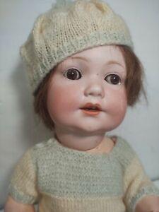 """Antico bisque doll baby 5 PEZZI corpo 971 Armand Marsiglia 18"""""""