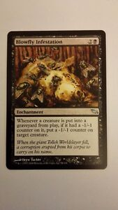 Blowfly Infestation NM Shadowmoor MTG Magic The Gathering Black English Card