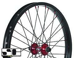 """SVWH01. NEW SAVAGE BMX BIKE 20 /"""" ALLOY FRONT WHEELS CHOICE OF 4 COLOURS"""