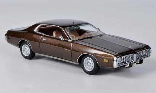 Maravilloso modelCoche Dodge Cochegador 1973-darkMarrón-Escala 1 43-Ltd Edition