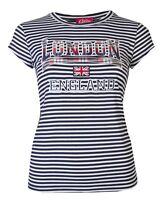 Womens T-Shirts Ladies Stripey London England Tops Union Jack Souvenir Size 8-14