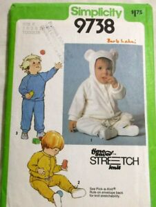 Simplicity-Sewing-Pattern-9738-Size-K-1-2-3-Toddler-Pants-Top-Jacket-Uncut-1980