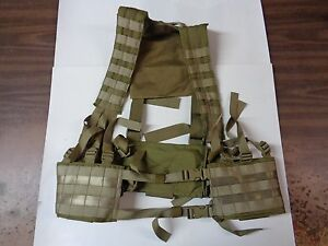 NEW Eagle Industries MOLLE H-Harness H-Gear Chest Rig Khaki HG-VS-MS