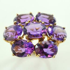 8-5ct-Amethyst-Womens-Cluster-Ring-Solid-9ct-Gold