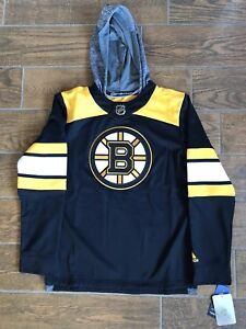 Adidas NHL Boston Bruins Silver Jersey Pullover Hoodie Mens Size ...