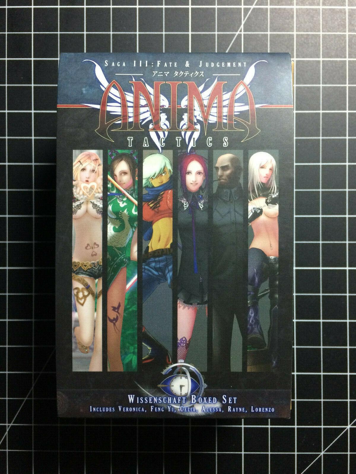 Anima Tactics Tactics Tactics  Saga III  Fate & Judgement  Wissenschaft Boxed Set  NEW 3cf8ba