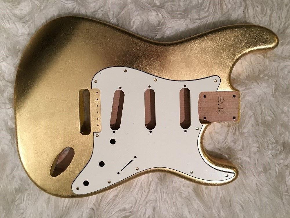 [CUSTOM ORDER] BODY Mercury glossy METALLIC LEAF alder guitar Stratocaster type