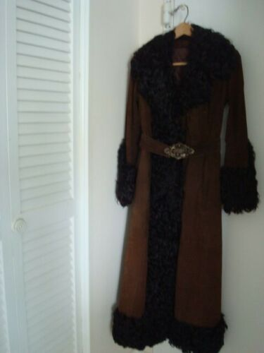 Vintage Full Length Suede Coat from the 1970's