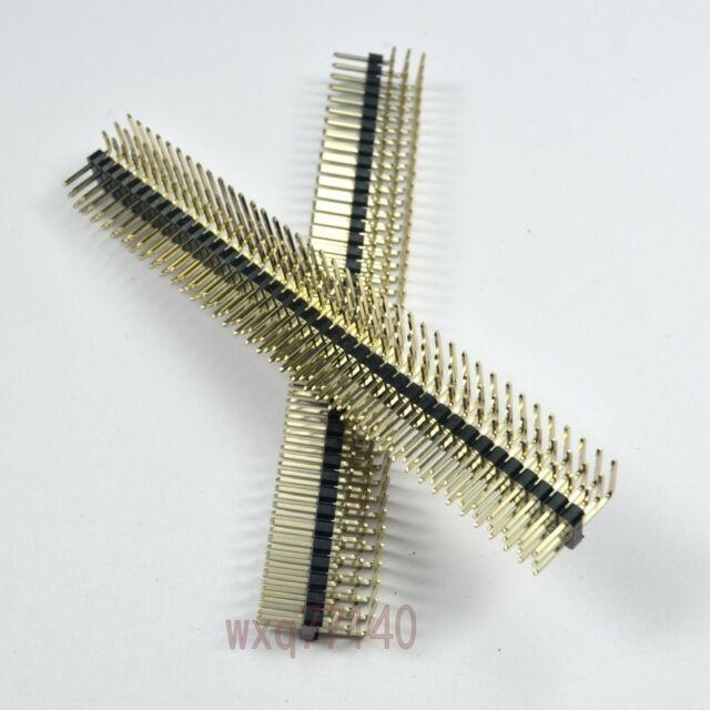 5Pcs 2.54mm 3x40 120Pin Three Rows Right Angle Male Pin Header Strip DIY convert