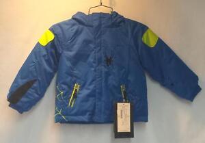 314118a33969 Spyder Kids Mini Challenger Snow Ski Winter Jacket Alpine Blue Lime ...