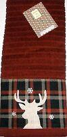 Christmas Applique Kitchen Towel 15 X 25 Deer