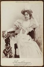 Mlle Ratcliff, Actrice de théâtre, Photo Cabinet card, Reutlinger