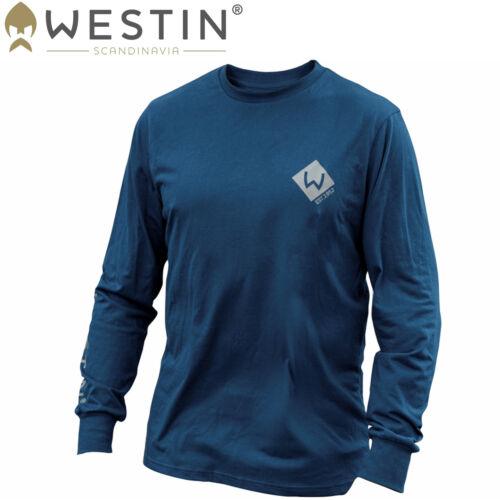 Langarm Angelshirt Westin Pro Long Sleeve Navy Blue Angelbekleidung
