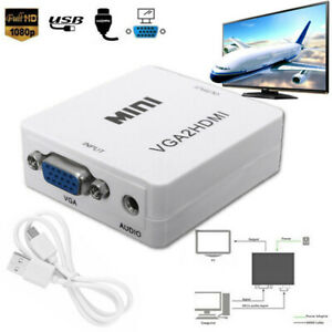 VGA-to-HDMI-Full-HD-Video-1080P-Converter-Box-Adapter-for-PC-Laptop-DVD-HDTV-new