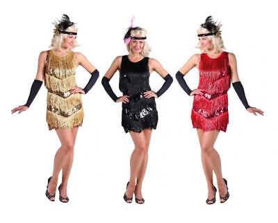 20er 30er Anni Vestito Costume Flapper Charleston Paillettes Frange Lunedì Fede-mostra Il Titolo Originale