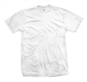 T-Shirt-weiss-mit-Rundhalsausschnitt-100-Baumwolle-190-g-ohne-Aufdruck-NEU