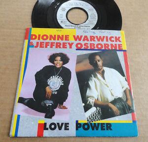 DISQUE-45T-DE-DIONNE-WARWICK-amp-JEFFREY-OSBORNE-034-LOVE-POWER-034
