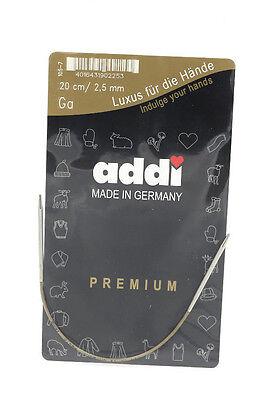 "One Pair of addi Premium Circular Knitting Needle 20cm (8"")"