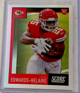 2020 Chronicles Score CLYDE EDWARDS-HELAIRE Rookie Rc #445 Silver Prizm Chiefs