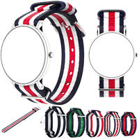 Nylon Wrist Band Watch Strap For Daniel Wellington Classic / Classic Black 36MM
