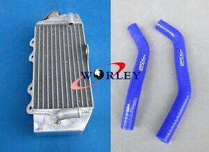 Aluminum-radiator-amp-Blue-Hose-For-Yamaha-YZ85-YZ-85-2002-2013-02-03-04-05-06-07