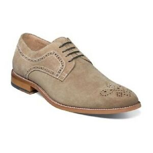 Stacy-Adams-Dunstan-Mens-Shoes-Oxford-Soft-Suede-Casual-Dressy-Sand-25094-269