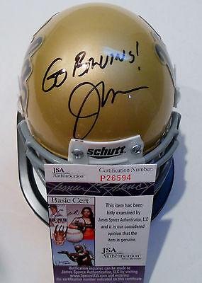 Jaelan Phillips Signed UCLA Bruins Mini Football Helmet w//COA C