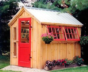 ... DIY PLANS 6 X 8 Greenhouse Storage Shed