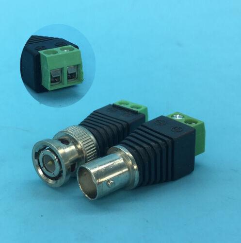 RCA BNC 5.5x2.5//2.1mm DC Power Plug Connector AV Video for Surveillance Camera