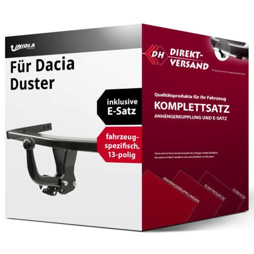 Für Duster I Phase 1 E-Satz 13pol neu Anhängerkupplung starr Imiola Hak-Pol